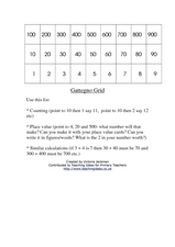 Gattegno Grid Worksheet