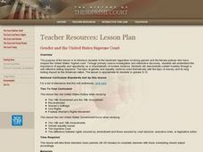 Gender and the United States Supreme Court Lesson Plan