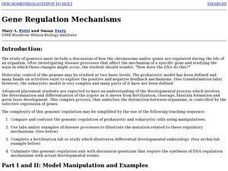 Gene Regulation Mechanisms Lesson Plan