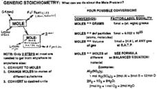General Stoichiometry Worksheet