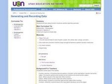 Generating and Recording Data Lesson Plan