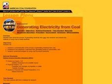 Generating Electricity from Coal Lesson Plan