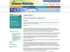 Genes, Environments, and Behavior 1 Lesson Plan