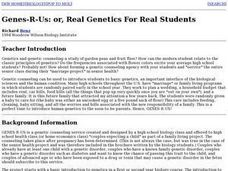 Genes-R-Us: or, Real Genetics For Real Students Lesson Plan