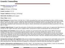 Genetic Counseling Lesson Plan