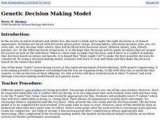 Genetic Decision Making Model Lesson Plan