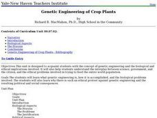 Genetic Engineering of Crop Plants Lesson Plan