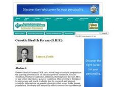 Genetic Health Forum (G.H.F.) Lesson Plan
