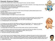 genetic science ethics 8th 11th grade worksheet lesson planet. Black Bedroom Furniture Sets. Home Design Ideas