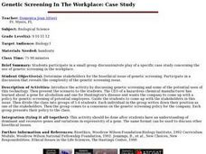 Genetic Screening In The Workplace: Case Study Lesson Plan
