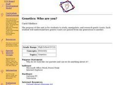 Genetics: Who are you? Lesson Plan