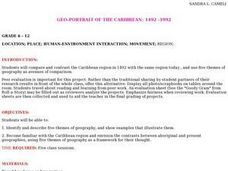 Geo-portrait of the Caribbean: 1492 -1992 Lesson Plan