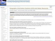 Geographic Information Systems (GIS) and Water Resources Lesson Plan