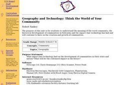 Geography and Technology: Think the World of Your Community Lesson Plan