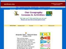 Geography Game - Educated Guess Lesson Plan