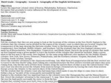 Geography of the English Settlements Lesson Plan
