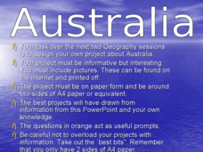Geography Project: Australia Presentation