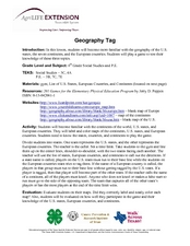 Geography Tag Lesson Plan