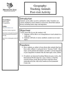 Geography: Tracking Animals Post-visit Activity Lesson Plan