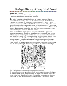 Geologic History of Long Island Sound Worksheet