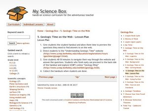 Geologic Time on the Web Lesson Plan