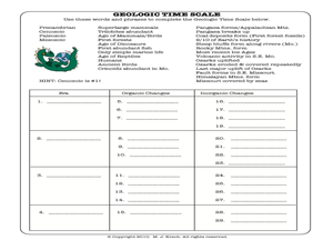 geologic time scale 8th 10th grade worksheet lesson planet. Black Bedroom Furniture Sets. Home Design Ideas