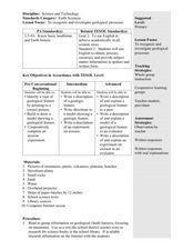 Geological Processes Lesson Plan