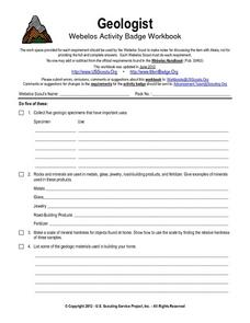 Geologist Worksheet
