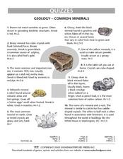 Geology Quiz- Common Minerals Lesson Plan