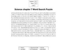 Geology Word Search Worksheet