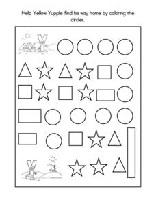 Geometric Shapes Maze Worksheet