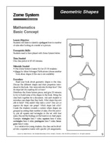 Geometric Shapes with Zome Systems Lesson Plan