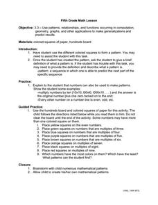 Geometry and Computing Graphs Teacher's Guide Worksheet