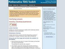 Geometry: Classifying Quadrilaterals Lesson Plan