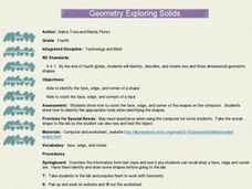 Geometry:  Exploring Solids Lesson Plan