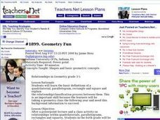 Geometry Fun Lesson Plan