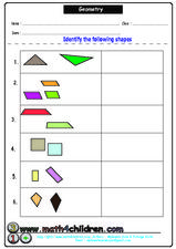 Geometry: Identify Shapes Lesson Plan