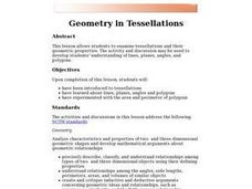 Geometry in Tessellations Lesson Plan