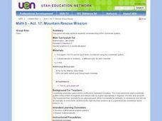 Geometry: Mountain Rescue Mission Lesson Plan