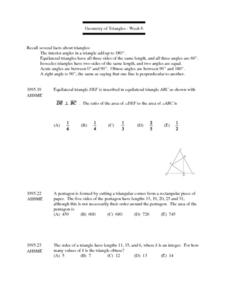 Geometry of Triangles - Week 6 Lesson Plan
