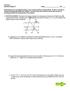 Geometry: Optional Chapter 3 Worksheet