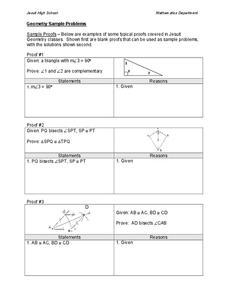 Worksheets Two Column Proof Worksheet geometry two column proofs lesson plans worksheets sample problems worksheet