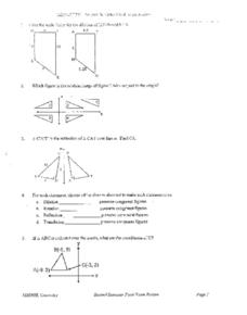 Geometry: Second Semester Final Exam Worksheet