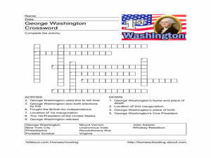 George washington lesson plans 5th grade