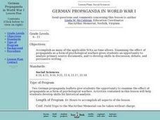 German Propaganda in World War I Lesson Plan