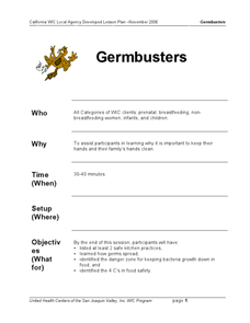 Germbusters Lesson Plan