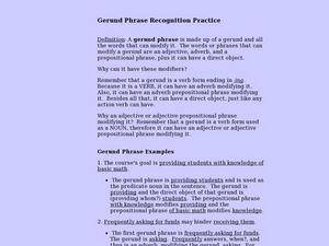 Printables Gerunds Worksheet gerund phrases worksheets davezan collection of gerunds and worksheet bloggakuten