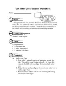 Get a Half-Life!: Student Worksheet Lesson Plan
