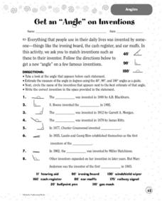 Get An Angle on Inventions Worksheet