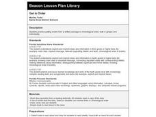 Get in Order Lesson Plan